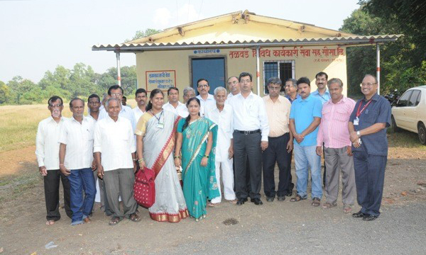 RBI and Nabard Visit -NABARD and RBI officers visited to Talavde PAC society